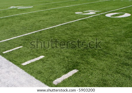 horizontal image of 50-yard line #5903200