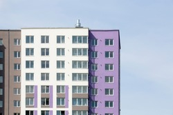 horizontal photo of a ready multi-apartment complex background image on a sky background