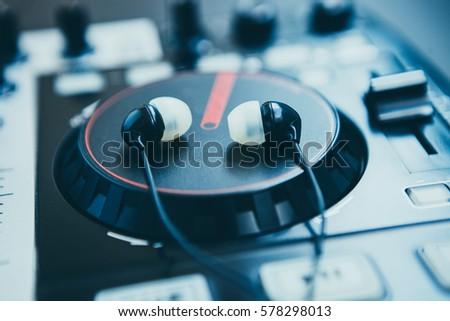 Jog wheel of professional sound mixing technology  DJ