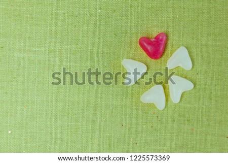 horizontal saint valentines background with hearts #1225573369
