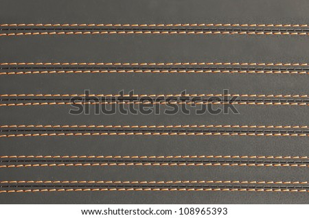 horizontal stitched leather background, art abstract