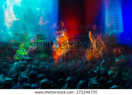 Horizontal vivid music concert performance light abstraction background backdrop