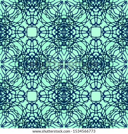 Horizontally seamless design. Ornamental Geometry. Ornamental Geometry. Natural Colors. Embroidery print Antique Element Hand Drawn. Kaleidoscope Art. Floral Design. Floral Pattern.