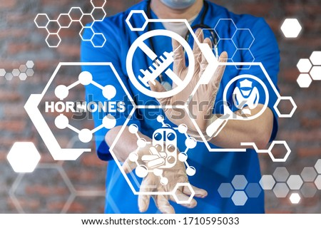 Hormones Medical Concept. Hormone Health Therapy. Hormonal Treatment.