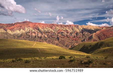 Hornocal, Mountain of fourteen colors, Humahuaca, Argentina #596751989