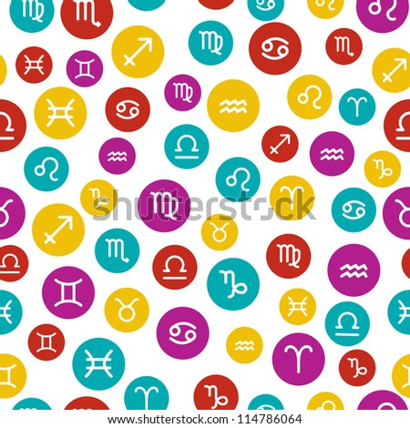 Horoscope Signs as Seamless Pattern
