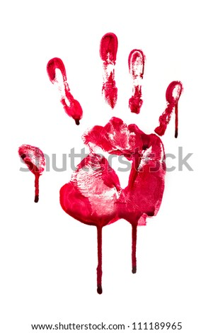 Horror blood hand print