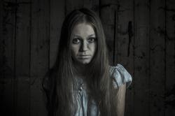 Horror girl in white dress