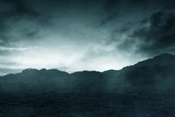 Horror hill background