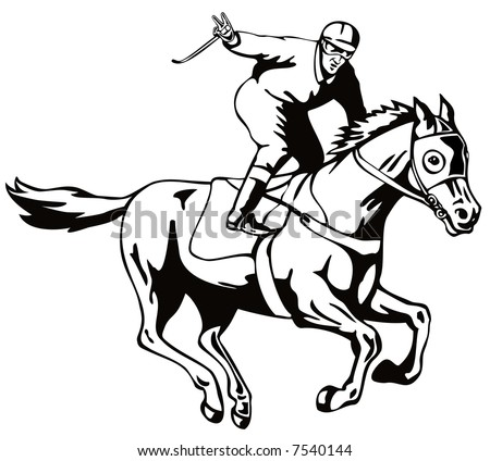 Horse And Jockey Coloring Pages