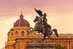 Horse and rider (Archduke Charles / Erzherzog Karl) memorial - Vienna / Wien Austria