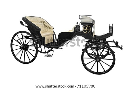 horse carriage isolated on white background