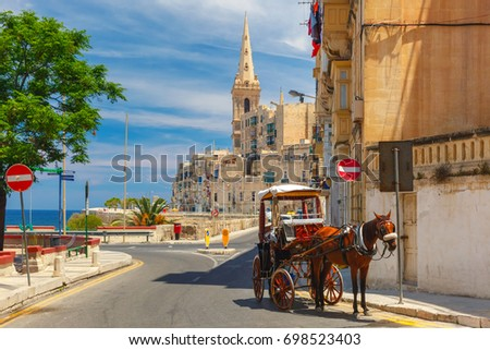 horse carriage on the street of ...