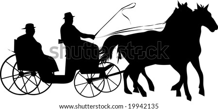 Horse Carriage Silhouette Horse Carriage Silhouette