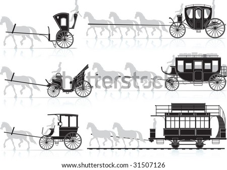 horse cart. raster version