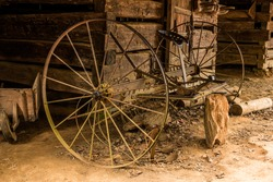 Horse Drawn Cultivator in the Barn