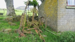 Horse Drawn Reaper used for cutting grass and crops