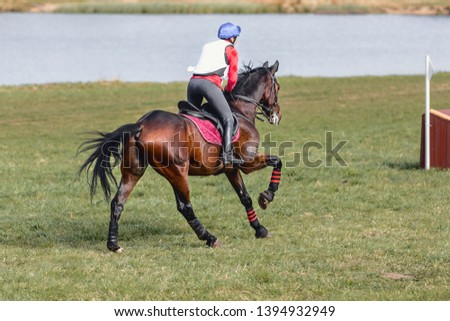 horse gallop during eventing competition