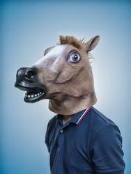 Horse Head Mask Portraiture
