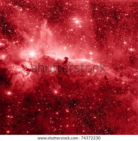 Horse Head nebula in red color