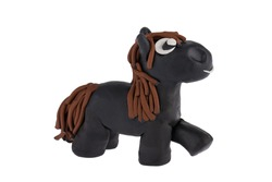 Horse made of plasticine