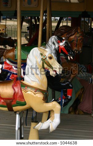Horse on old carousel