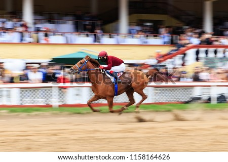 horse racing, abstract background, blurred contours #1158164626