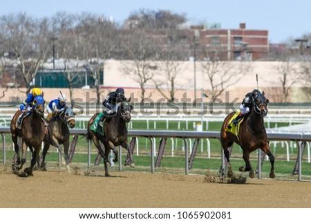 Horse racing finish #1065902081