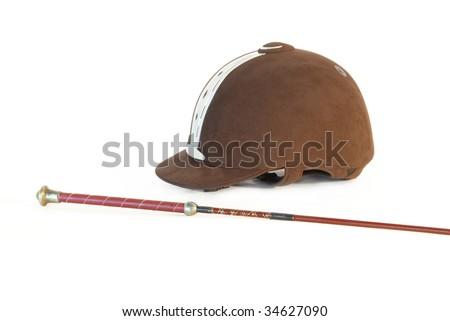 horse riding hat. stock photo : Horse riding