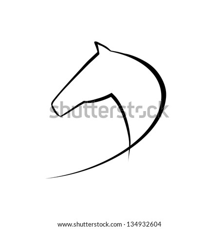 Horse symbol. Raster version of the loaded vector