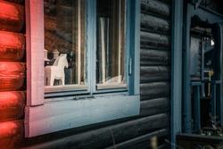 Horse toy through the window