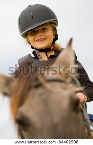 Horseback riding - little jockey portrait