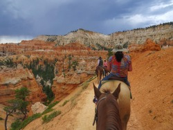 Horseback riding through the scenic Bryce Canyon National Park
