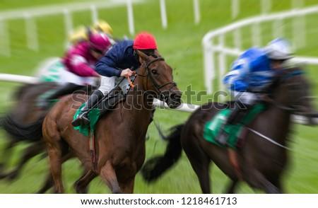 Horseracing motion blur speed effect