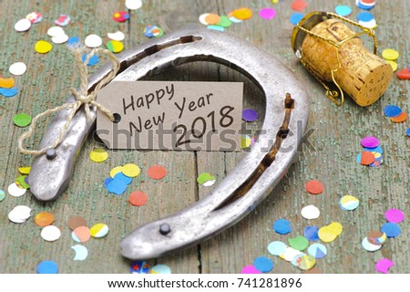 horseshoe as talisman for good luck at new year 2018