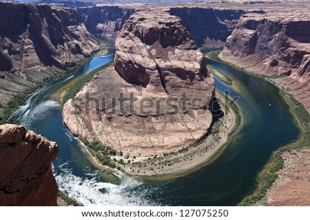 Horseshoe bend, Bend on colorado river in Arizona
