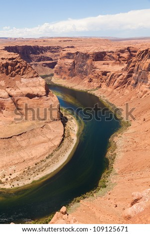 Horseshoe bend of Colorado river in Page Arizona - USA