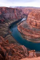 Horseshoe Bend section of Colorado River, Arizona