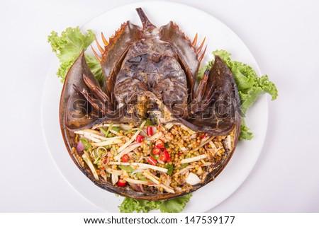 Horseshoe Crab Eating Horseshoe Crab Eggs Salad