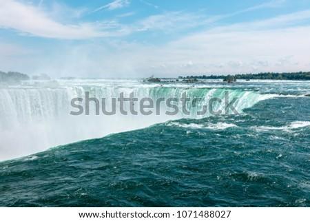 Horseshoe Fall, Niagara Falls, Ontario Canada, Summer #1071488027