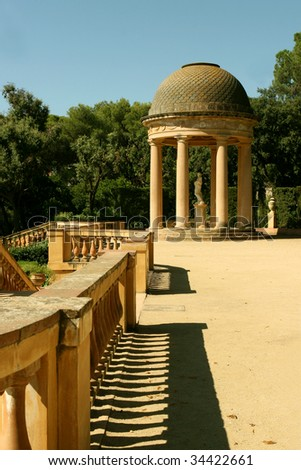 Horta Labyrinth. Baroque era. Rococo Style Park. Barcelona. Catalonia. Spain