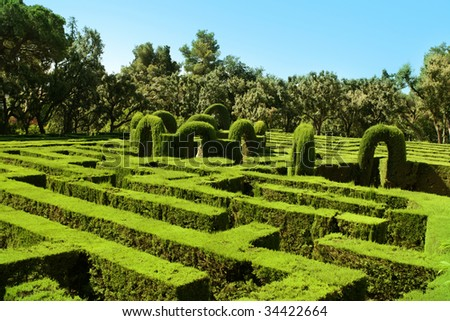 Horta Labyrinth. Passeig de Castanyers. Barcelona. Catalonia. Spain