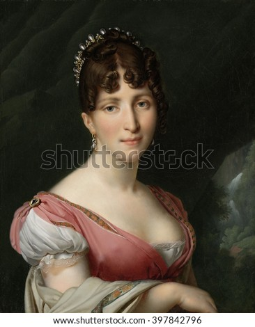 Hortense de Beauharnais, Queen of Holland, by Anne Louis Girodet-Trioson, c. 1805-09, French painting, oil on canvas.