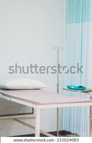 hospital bed in emergency room at the hospital.