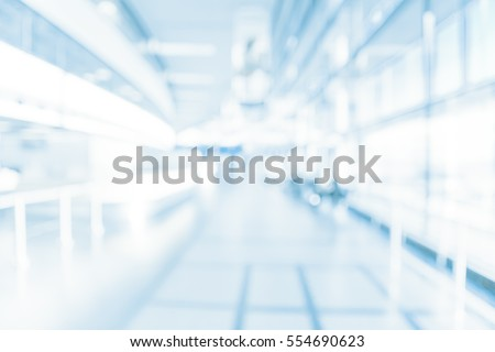 HOSPITAL BUILDING INTERIOR, DENTISTRY, BLURRED OFFICE BACKGROUND, MODERN HALL