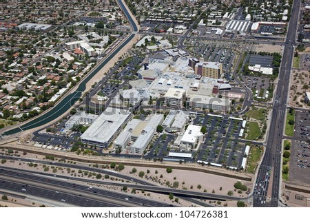 Hospital Campus from above in Mesa, Arizona
