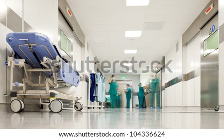 Hospital hallway, emergency room
