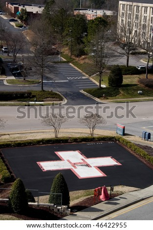 Hospital Helipad Stock Photo 46422955 : Shutterstock