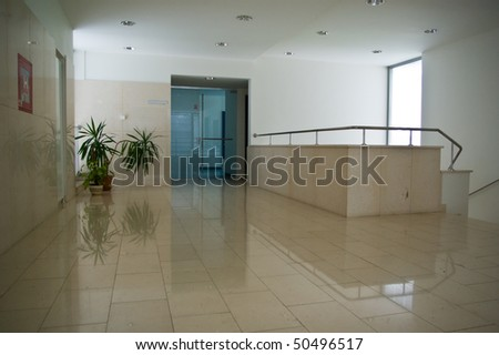 hospital indoors of a modern medical facility
