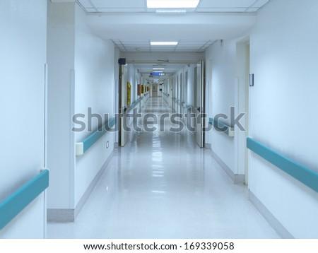 hospital interior corridor clinic
